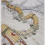Ettore Sottsass Junior, Disegno per Il pianeta come festival, 1972