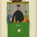 """Ettore Sottsass Junior, Stazione nuova piazza Vittorio, Senza data (1934-39), tempera su carta applicata su carta, mm 360 x 253, in basso a destra sul recto """"Sot-sas"""""""