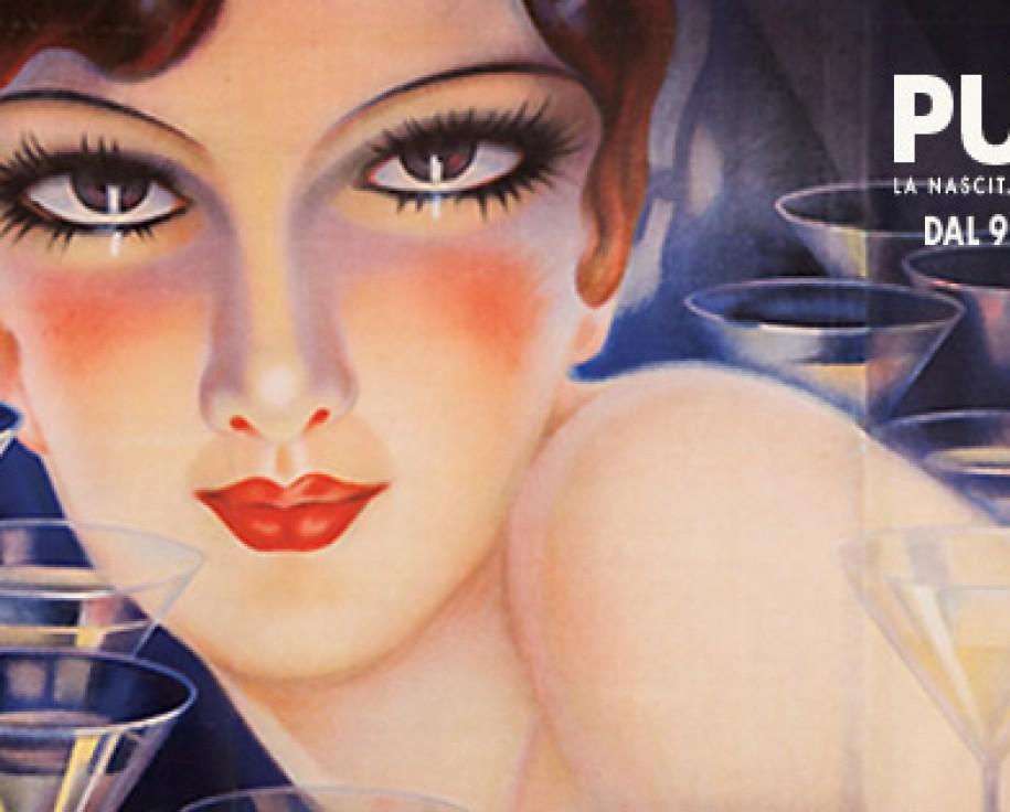 Plinio Codognato, Spumanti Cinzano, 1933. Collezione Alessandro Bellenda, Galleria L'Image - Alassio (SV) - Manifesti originali del XX Secolo (particolare)