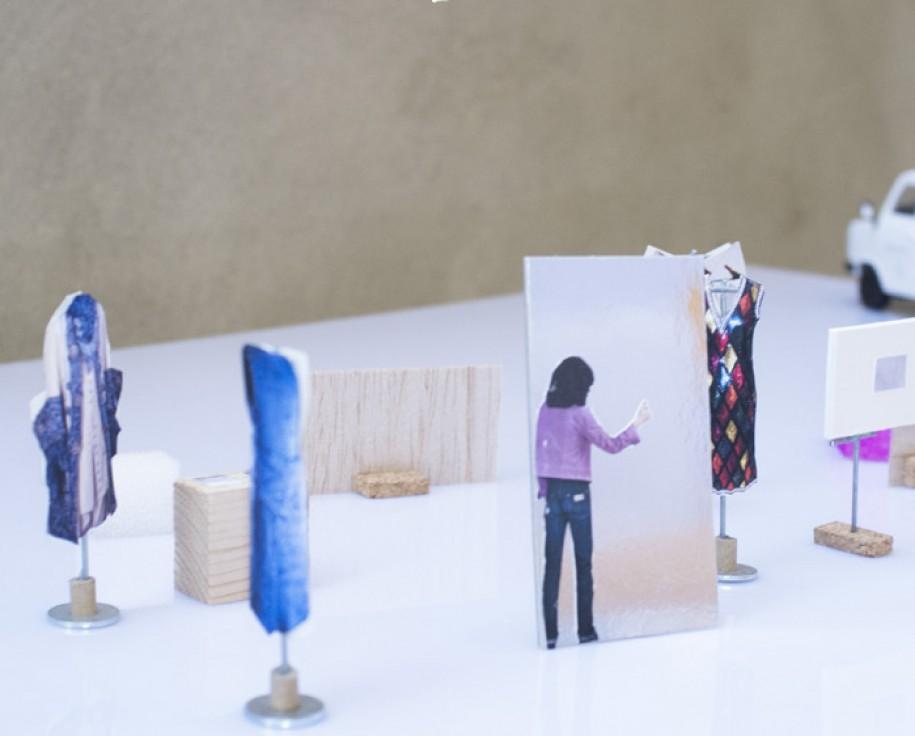 3) Luca Vitone, Maquette dell'installazione proposta per lo CSAC (dettaglio), 2017. CSAC, Università di Parma ph. Giovanni Oberti